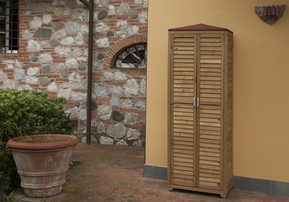 Armadio da esterno spilungo armadi jarsya - Mobili in legno da esterno ...