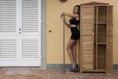 Armadio da esterno in legno Spilungo